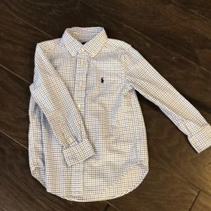 Ralph Lauren white and blue button down